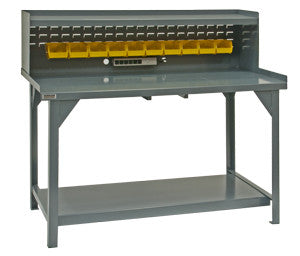 "60"" Heavy Duty Workbench with Riser - ShopStorageCabinets.com"