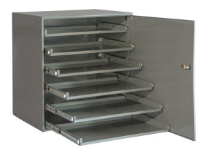 Model 321B-95-DR Ball Bearing Rack w/Locking Door for 6 Large Compartment Boxes - ShopStorageCabinets.com