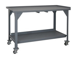 "Mobile heavy duty workbench 72"" long by 30"" deep - ShopStorageCabinets.com"