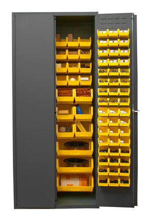 36x24x84 HD 16 Gauge Locker w/138 Bins - ShopStorageCabinets.com