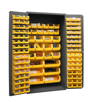 36x24x72 HD 16 Gauge Locker w/126 Bins - ShopStorageCabinets.com