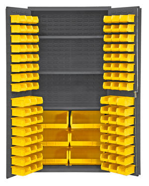 36x24x72 HD 16 Gauge Locker w/102 Bins and 3 Shelves - ShopStorageCabinets.com