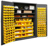48x24x72 HD 16 Gauge Locker w/138 Bins and 3 Shelves - ShopStorageCabinets.com