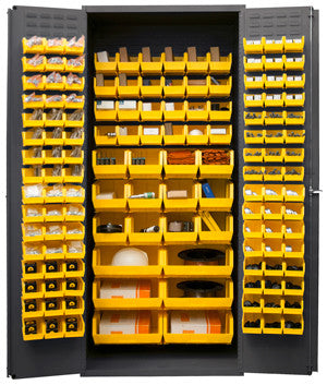 36x24x84 HD 14 Gauge Locker w/138 Bins - ShopStorageCabinets.com