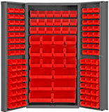 36x24x84 HD 14 Gauge Locker w/4 deep Doors and 132 Bins - ShopStorageCabinets.com