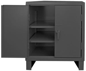 36x24x42 HD 14 Gauge Cabinet w/Recessed Doors and 2 Shelves - ShopStorageCabinets.com
