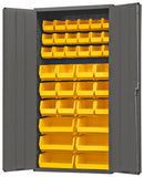 36x18x72 HD 14 Gauge Locker w/36 Bins - ShopStorageCabinets.com