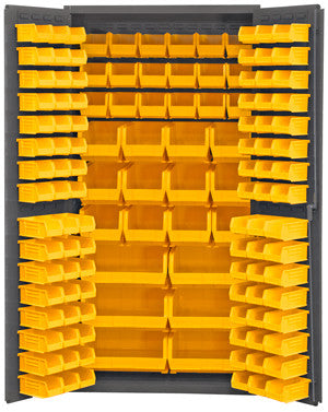 36x24x72 HD 14 Gauge Locker w/132 Bins - ShopStorageCabinets.com