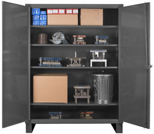 60x24x78 HD 14 Gauge Locker w/Recessed Doors and 4 Shelves - ShopStorageCabinets.com