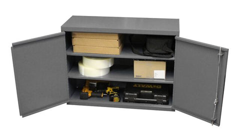 Model 071SD-95 Wall Cabinet w/two adjustable shelves - ShopStorageCabinets.com
