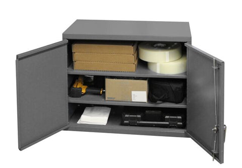 Model 072SD-95 Wall Cabinet w/two adjustable shelves - ShopStorageCabinets.com