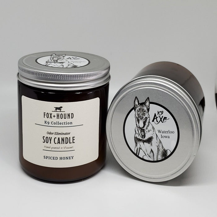 K9 Axe Spiced Honey Odor-Eliminator Soy Candle