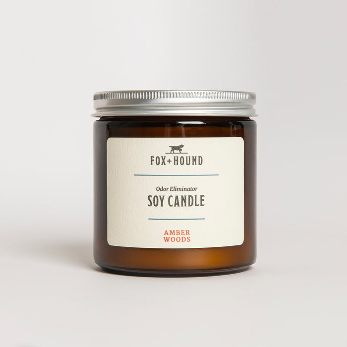 Amber Woods Odor-Eliminating Soy Candle