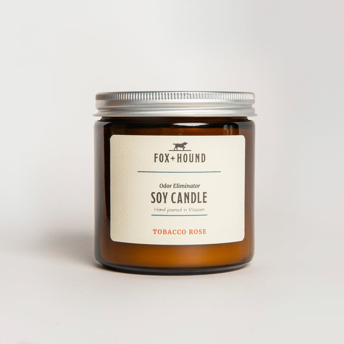 Odor Eliminator Soy Candle - Tobacco Rose
