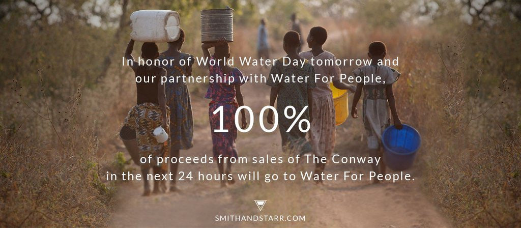 We're Partnering with Water For People