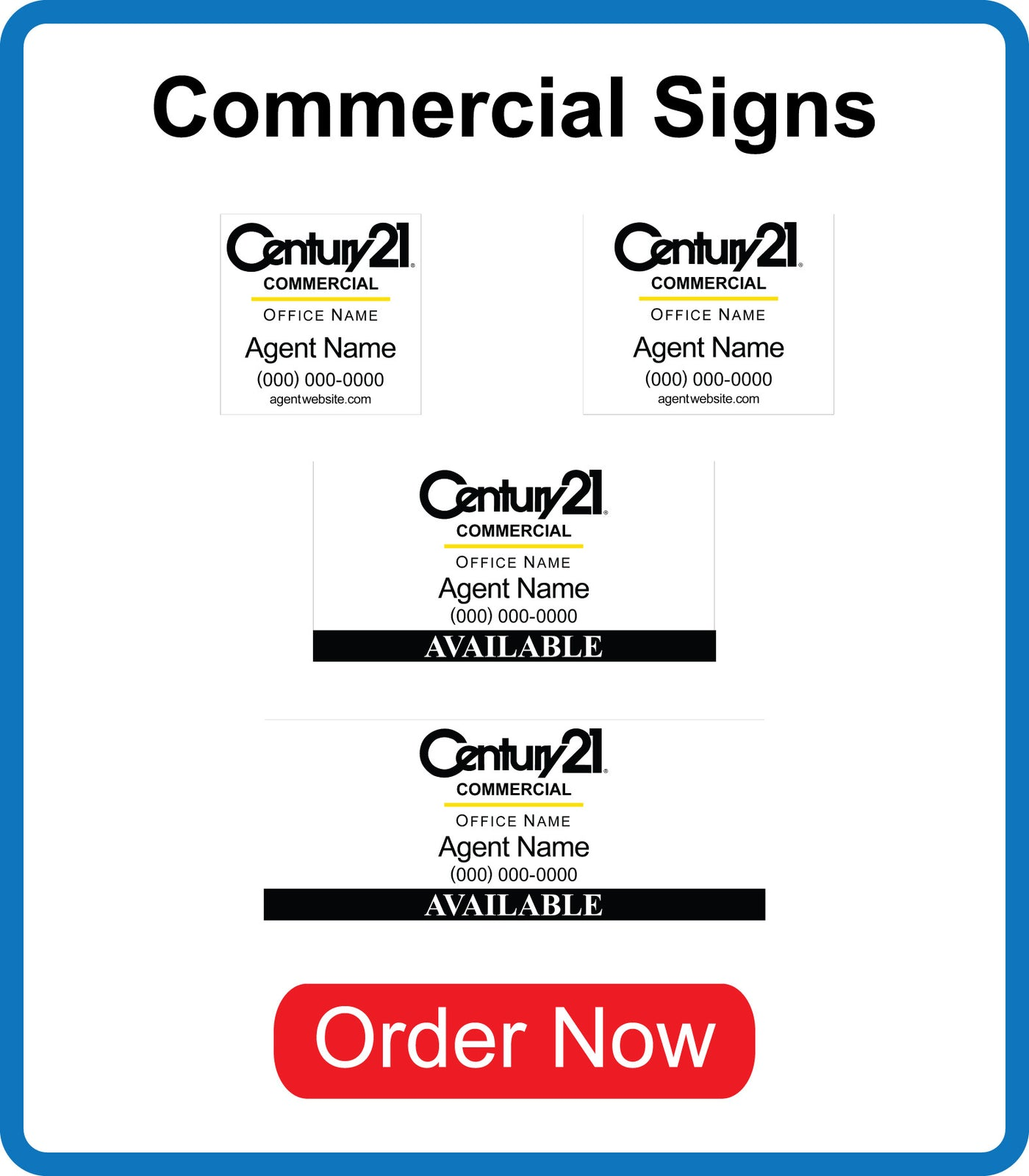 Century 21 Commercial Signs