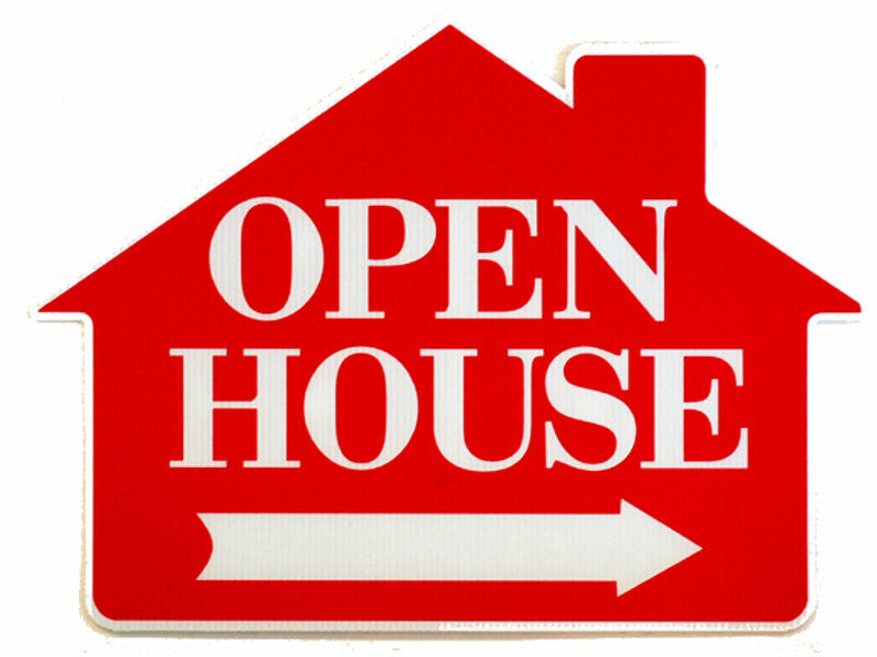 Open House Pre-printed Signs w/H-stake