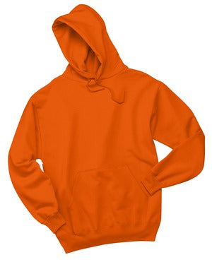 V200 - Burnt Orange Pullover Hooded Sweatshirt - Small