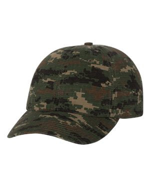 V500 - Classic Dad Cap - Green Digital Camo