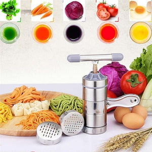 The Ultimate Kitchen Tool - Stainless Steel Pasta Noodle Maker, Fruit Juicer Press,  Spaghetti Maker