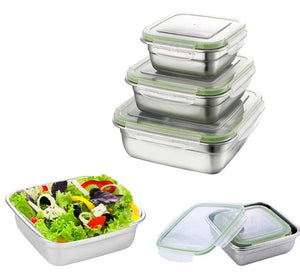 Stainless Steel Leak-proof Food Container; 3 sizes available