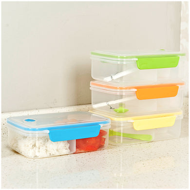 Dual Compartment Bento  Food Container; 4 colors available