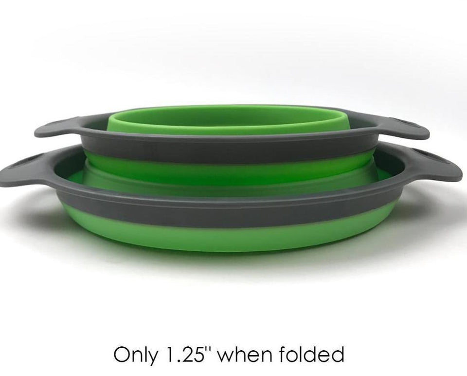Collapsible Colanders; 2 sizes, 2 colors available