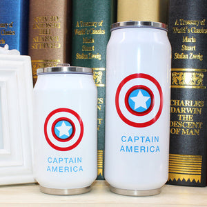 Stainless Steel Super Hero Water Bottles; small/large, 5 heroes to choose from