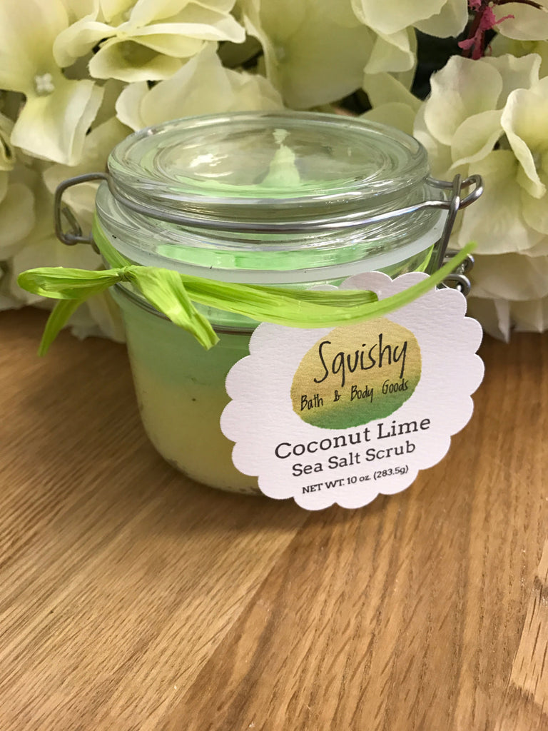 Coconut Lime Sea Salt Scrub - 10 oz
