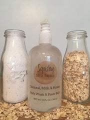 Oatmeal Milk & Honey Body Wash and Foam Bath - 12 oz