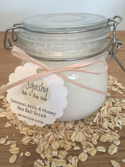Oatmeal, Milk, and Honey Sea Salt Scrub - 10 oz
