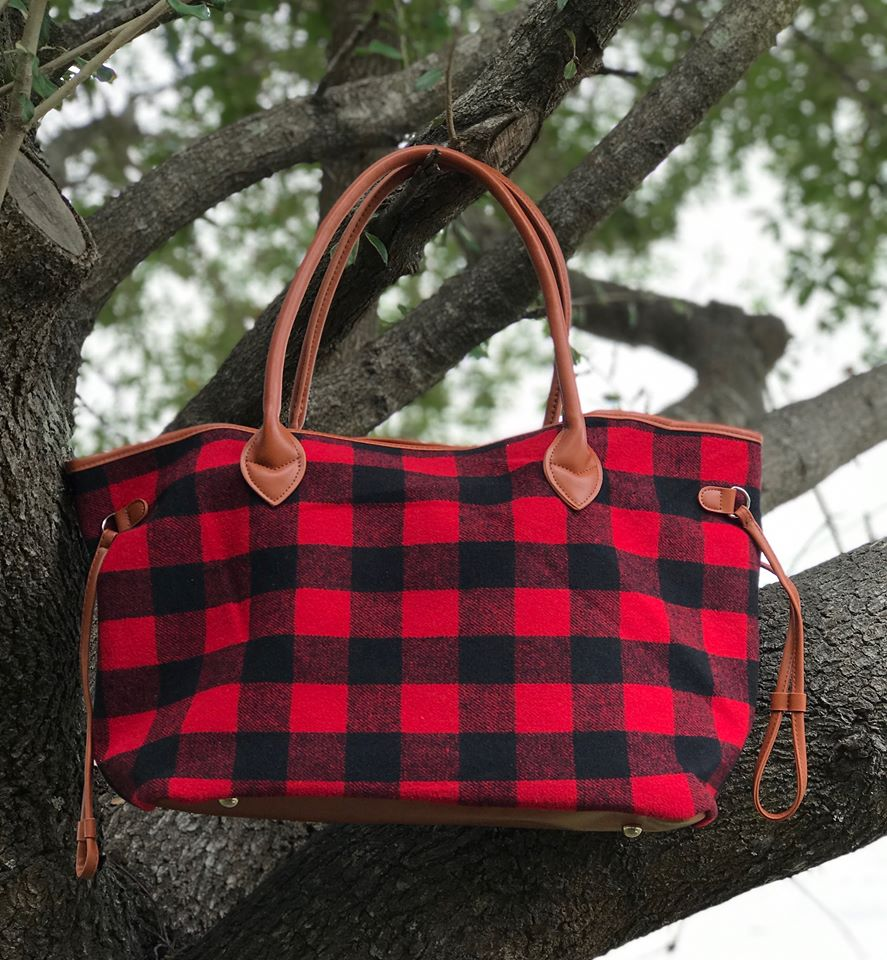 Bags : Buffalo Plaid Purse