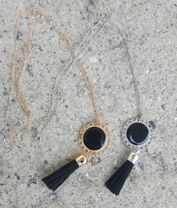 Jewelry : Scalloped Tassel Necklace