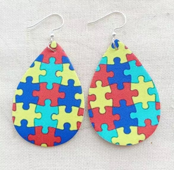 Jewelry : Autism Awareness Earrings