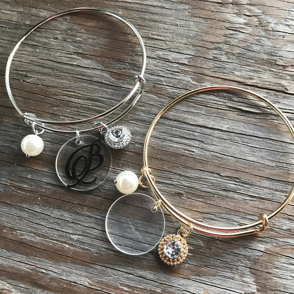 Jewelry: Monogram Disc Bracelets w/ Charms