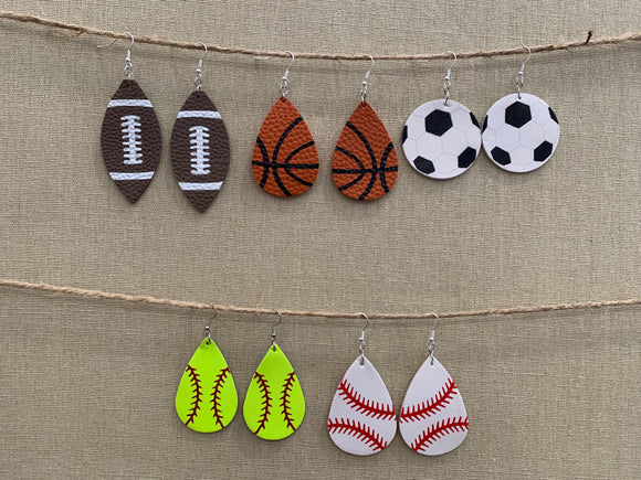 Jewelry :  Tear Drop Sports Earrings