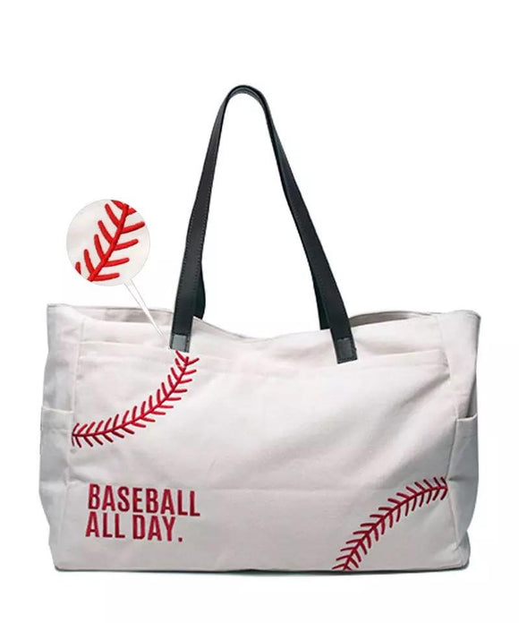 Bags : Embroidered Baseball Tote
