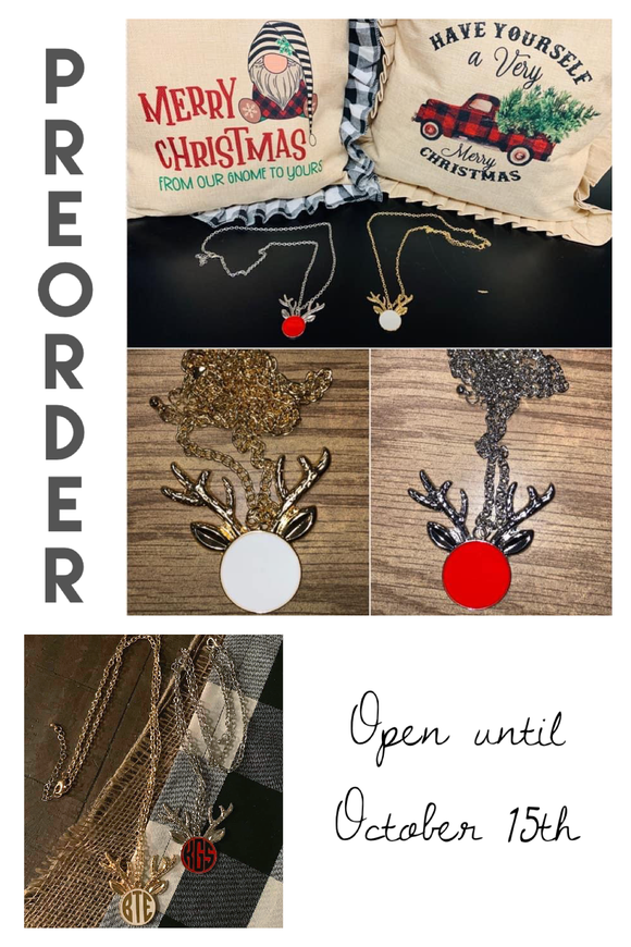 PREORDER Jewelry : Reindeer Christmas Necklace