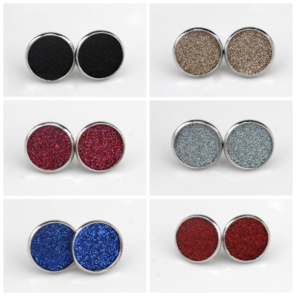 Jewelry : Glitter Stud Earrings