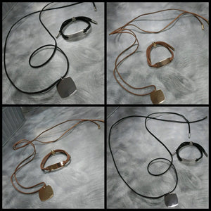 Jewelry : Suede choker and/or bracelet