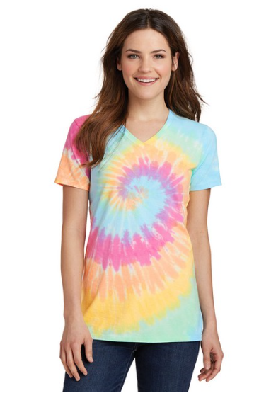 Clothing : Vneck Tye Dye