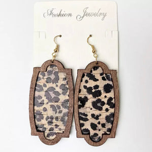 Jewelry: Wood Accent Earrings