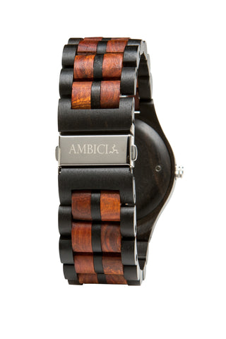 The Red Sandalwood Wood Watch - Ambici Wood Watch