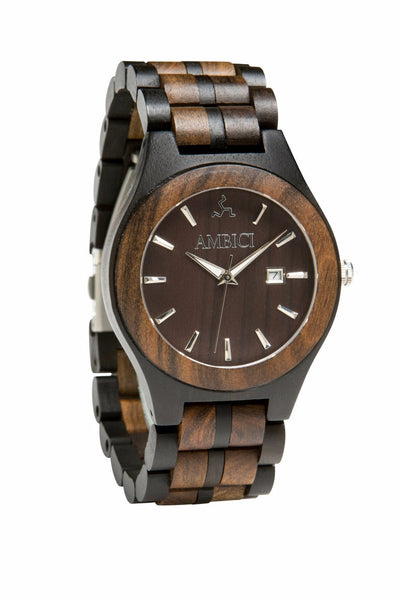 The Classic Black Wood Watch - Ambici Wood Watch