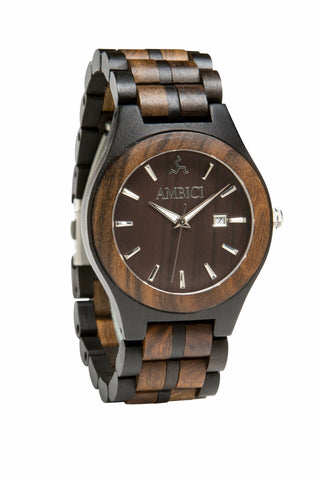 The Classic Black Wood Watch