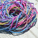 Eye Candy Silk Cords, Hand Sewn Hand Dye Silk Cording 2mm to 3mm Thick
