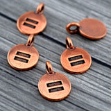 Equality Charms, TierraCast Antique Copper Equal Size Charm