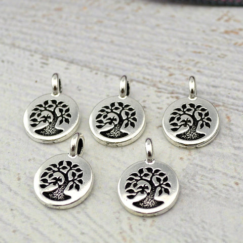 Tree of Life TierraCast Charms, Little Tree Charm, TierraCast Findings