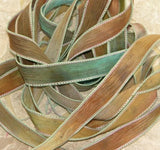 Hand Dyed Silk Ribbons, JamnGlass Ribbons and Cords