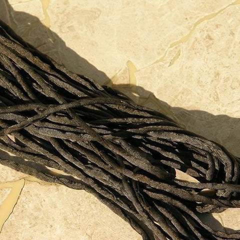 Black Silk Cord, Rolled Silk Cording for Jewelry Making, Stringing Supplies